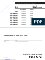 Tv Sony Manual Service Kdl26m4000 Kdl32m4000 Kdl37m4000 Kdl40m4000