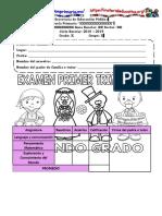 Examen 2 año primaria