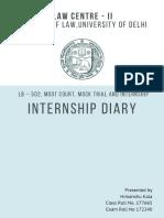 Law Internship Diary