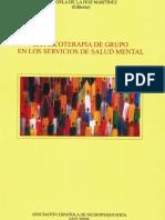 La psicoterapia de grupo en los servicios de salud mental