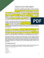 Desarrollo de Los Pueblos. Ecología y Medio Ambiente