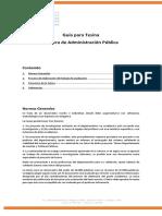 Reglas de Elaboración y Estructura de La Tesina