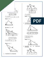 Ejercicios de Relaciones Métricas en Triangulos Oblicuangulos Para Quinto de Secundaria