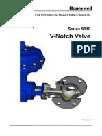 Honeywll Serie 9310 V-Notch Valve- Manual