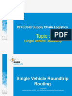 Single Vehicle Roundtrip - D0844 Supply Chain Logistics