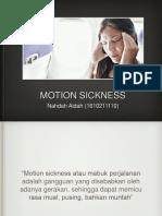 Motion Sickness!