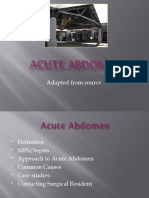 The Acute Abdomen in the ER Edited