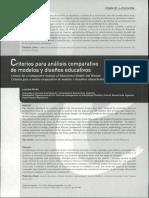 Criterios para el análisis de modelos educativos