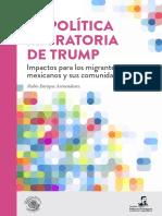 La política migratoria de Trump. Impactos para los migrantes mexicanos y sus comunidades