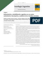 Estimulación y rehabilitación cognitiva en un centro ambulatorio
