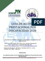 Instructivo General Discapacidad 2020 Osdepym