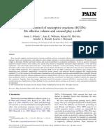 Emotional control of nociceptive reactions (ECON)
