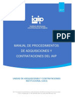 24. Manual de Procedimientos de Adquisiciones y Contrataciones