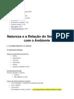 Soc -1- Natureza e a Relação Do Ser Humano Com o Ambiente