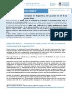 Alerta epidemiológica por sarampión de la Secretaría de Salud