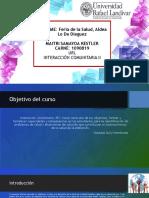 Informe-Feria de Salud, Lo de Dieguez_13 de Octubre de 2019