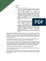 Modelo - Alteração Alteração de Contrato Social DE LTDA PARA  ME