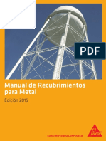 Manual Sika Recubrimientos Para Metal 2015