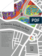 O Direito Achado Na Rua - Introdução Crítica Ao Direito Urbanístico