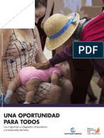 Una Oportunidad Para Todos Los Migrantes y Refugiados Venezolanos y El Desarrollo Del Perú