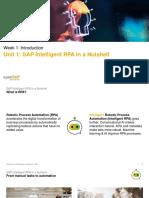 OpenSAP SAP RPA Week 1