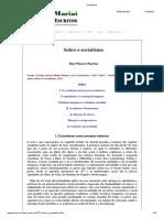 Sobre o Socialismo (Duas Notas Sobre o Socialismo) - Ruy Mauro Marini