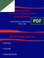 Introduccion Politicas Culturales en Comunicacion