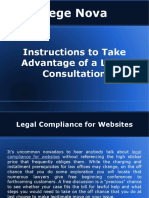 Instructions to Take Advantage of a Legal Consultation - Lege Nova