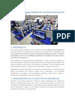 Dirección de Materiales - Organización y Gestión Con Documentos y Cuadro de Mando