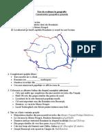 Test evaluare Geografie