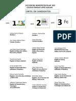 Cartel de Candidatos Para Imprimir Bigote