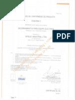 Certificados Tableros t 100-1