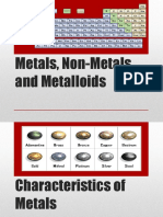 Metals,Nonmetals,Metalloids