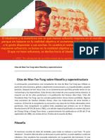 Citas de Mao Tse-Tung sobre filosofía y superestructura