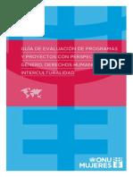 Guía de evaluación de programas ONU Mujeres