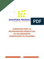 Proyecto Fundación Diaspora Productiva