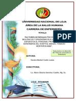 Factores de Riesgos Físicos, Químicos, Biológicos y Ergonómicos
