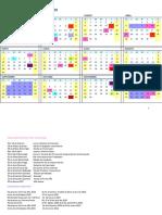 Calendario ULA 2020