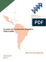 Acuerdo de Coop Energetica Petrocaribe