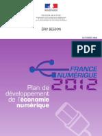 Plan France Numérique 2012