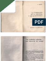 La Formación de La Infancia y La Juventud-celestin Freinet