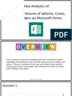 find volume quiz data analytics