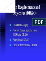 I. Lecture, Design Requirements and Objectives MED-2014-1
