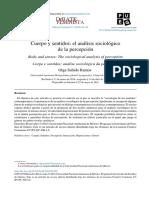 Cuerpo y Sentidos, Sociologia Olga Sabino