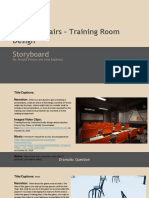 storyboard - musical chairs - training room design 1