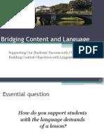 Bridging Content and Language Principals Institute 14