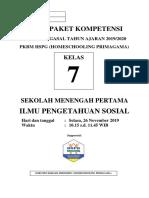 Soal Ips 7 Smp Upk Gasal
