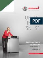Manual de Instrucciones Estufa Memmert UN 75