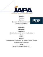 Tarea I de Didactica de La Ciencias Sociales.