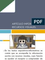 Artículo Informativo y Recursos Visuales